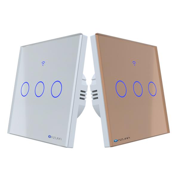 Công tắc đèn thông minh 3 kênh hình vuông (AUS-SQ03)