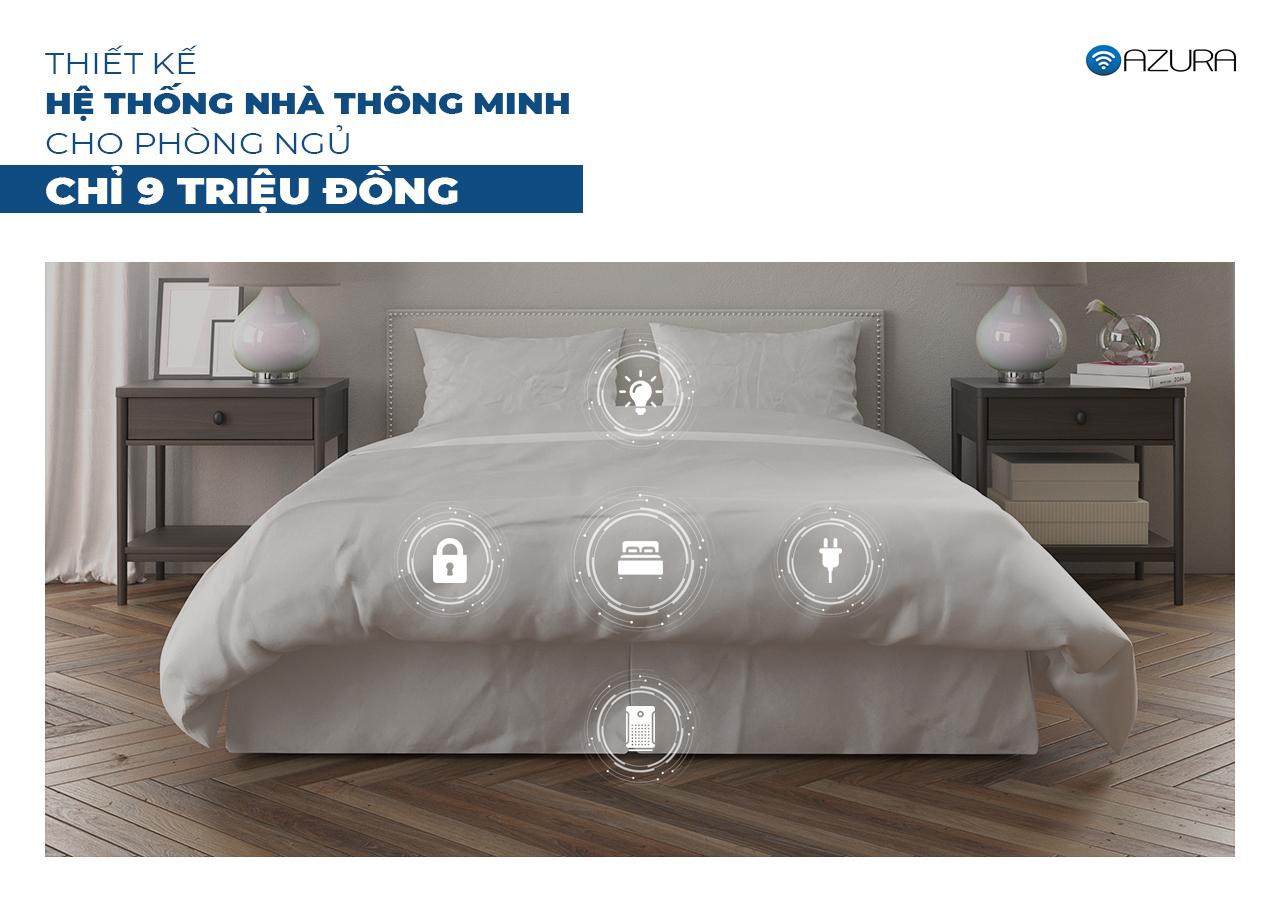 Thiết kế phòng ngủ thông minh Azura chỉ 9 triệu đồng